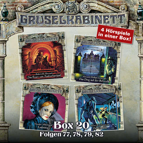Hoerbuch Gruselkabinett, Box 20: Folgen 77, 78, 79, 82 - Robert E. Howard - Wolfgang Pampel