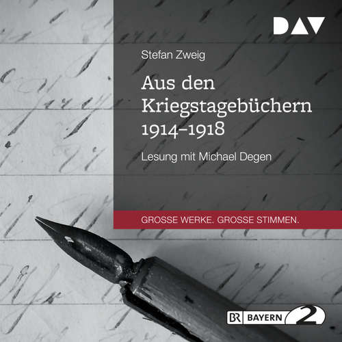 Hoerbuch Aus den Kriegstagebüchern 1914-1918 - Stefan Zweig - Michael Degen