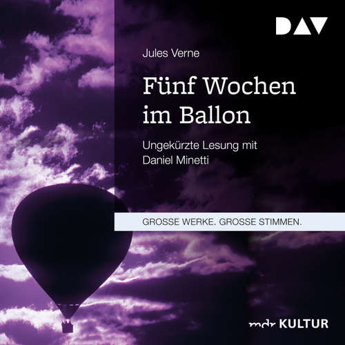 Hoerbuch Fünf Wochen im Ballon - Jules Verne - Daniel Minetti