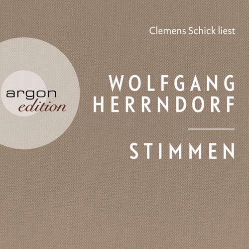 Hoerbuch Stimmen - Wolfgang Herrndorf - Clemens Schick