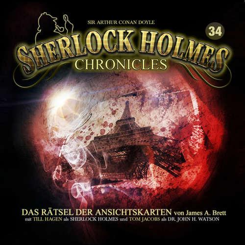 Hoerbuch Sherlock Holmes Chronicles, Folge 34: Das Rätsel der Ansichtskarten - James A. Brett - Tom Jacobs