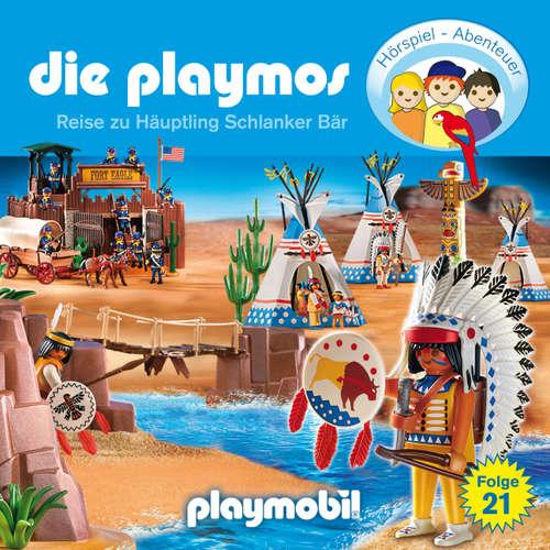 Hoerbuch Die Playmos - Das Original Playmobil Hörspiel, Folge 21: Die Reise zu Häuptling Schlanker Bär - David Bredel - Gerrit Schmidt-Foß