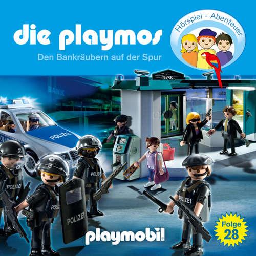 Hoerbuch Die Playmos - Das Original Playmobil Hörspiel, Folge 28: Den Bankräubern auf der Spur - Simon X. Rost - Gerrit Schmidt-Foß