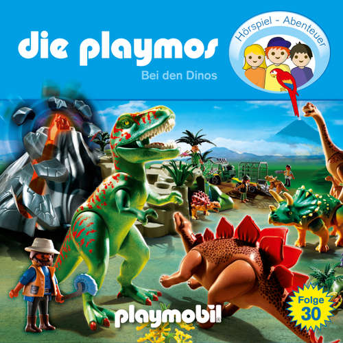 Hoerbuch Die Playmos - Das Original Playmobil Hörspiel, Folge 30: Bei den Dinos - David Bredel - Gerrit Schmidt-Foß