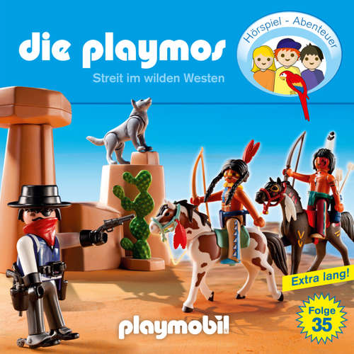 Hoerbuch Die Playmos - Das Original Playmobil Hörspiel, Folge 35: Streit im Wilden Westen - David Bredel - Gerrit Schmidt-Foß