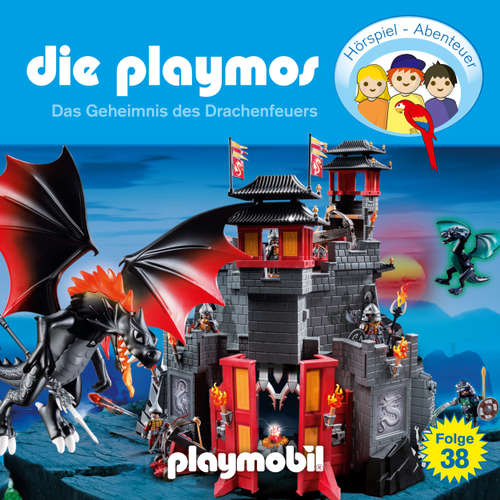 Hoerbuch Die Playmos - Das Original Playmobil Hörspiel, Folge 38: Das Geheimnis des Drachenfeuers - Simon X. Rost - Gerrit Schmidt-Foß