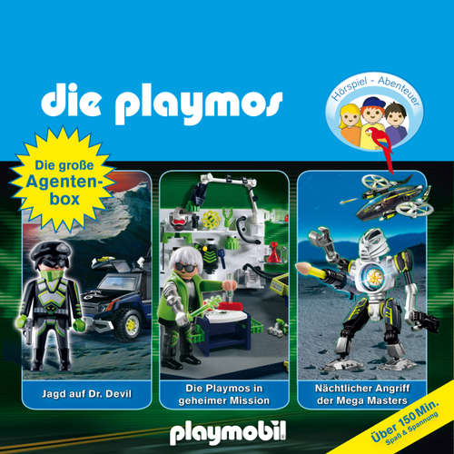 Hoerbuch Die Playmos - Das Original Playmobil Hörspiel, Die große Agenten-Box, Folgen 19, 23, 31 - Simon X. Rost - Gerrit Schmidt-Foß