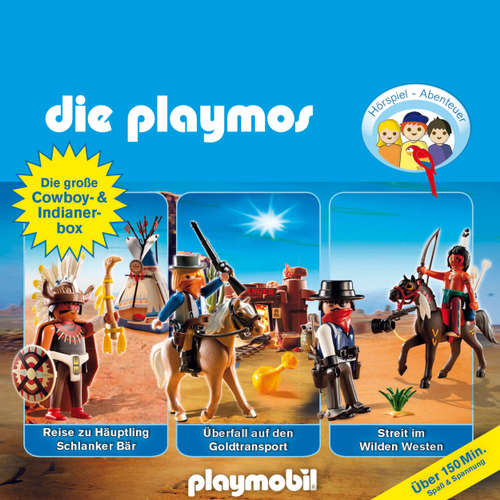 Die Playmos - Das Original Playmobil Hörspiel, Die große Cowboy- und Indianer-Box, Folgen 21, 32, 35
