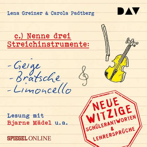 """Hoerbuch """"Nenne drei Streichinstrumente: Geige, Bratsche, Limoncello"""" - Lena Greiner - Bjarne Mädel"""