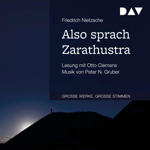 Hoerbuch Also sprach Zarathustra - Friedrich Nietzsche - Otto Clemens