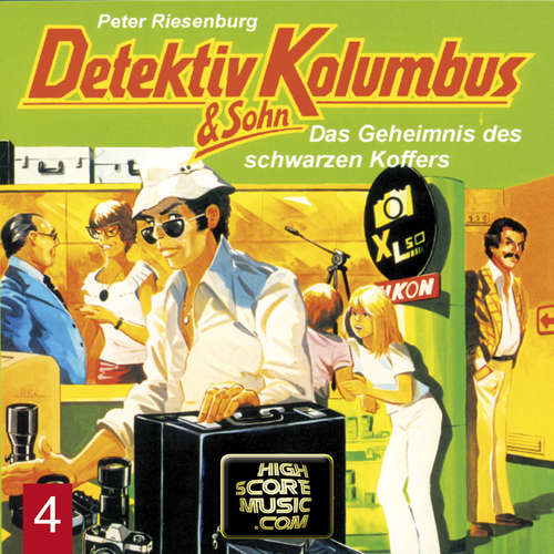 Hoerbuch Detektiv Kolumbus & Sohn, Folge 4: Das Geheimnis des schwarzen Koffers - Peter Riesenburg - Lothar Grützner