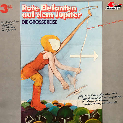 Hoerbuch Die große Reise, Folge 3: Rote Elefanten auf dem Jupiter - Alfred Krink - Thiemo Krink