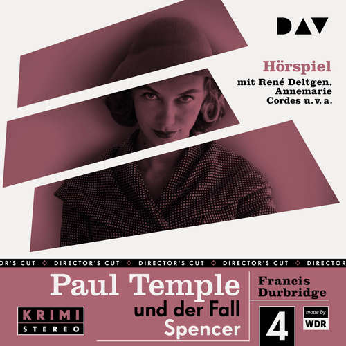 Hoerbuch Paul Temple und der Fall Spencer (Original-Radio-Fassung (Ungekürzt) - Francis Durbridge - René Deltgen