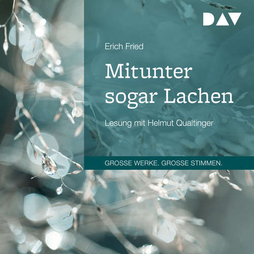 Hoerbuch Mitunter sogar Lachen - Erich Fried - Helmut Qualtinger
