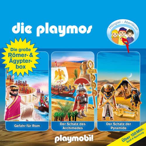 Die Playmos - Das Original Playmobil Hörspiel, Die große Römer- und Ägypterbox, Folge 5, 18, 52: Gefahr für Rom / Der Schatz des Archimedes / Der Schatz der Pyramide