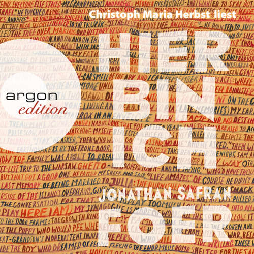 Hoerbuch Hier bin ich - Jonathan Safran Foer - Christoph Maria Herbst