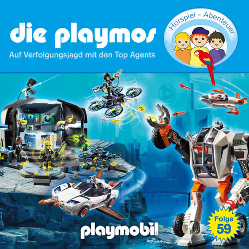 Die Playmos - Das Original Playmobil Hörspiel, Folge 59: Auf Verfolgungsjagd mit den Top Agents