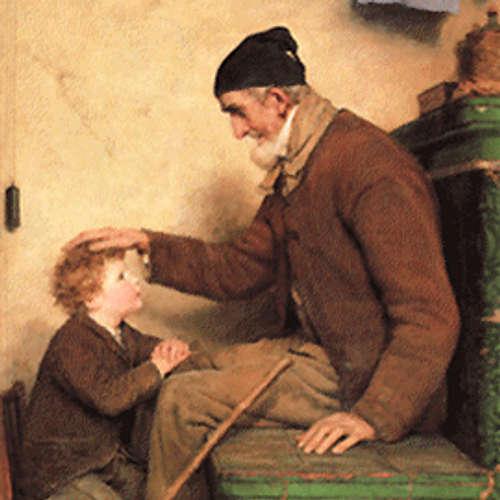 (61) Jacob und Wilhelm Grimm »Der alte Großvater und der Enkel«