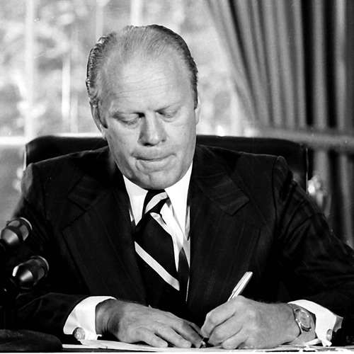 Gerald Ford begnadigt Richard Nixon   8.9.1974