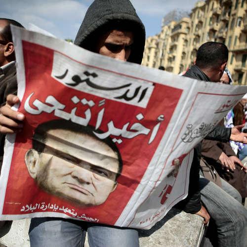 Ägyptens Diktator Husni Mubarak tritt zurück   10. bis 12.2.2011