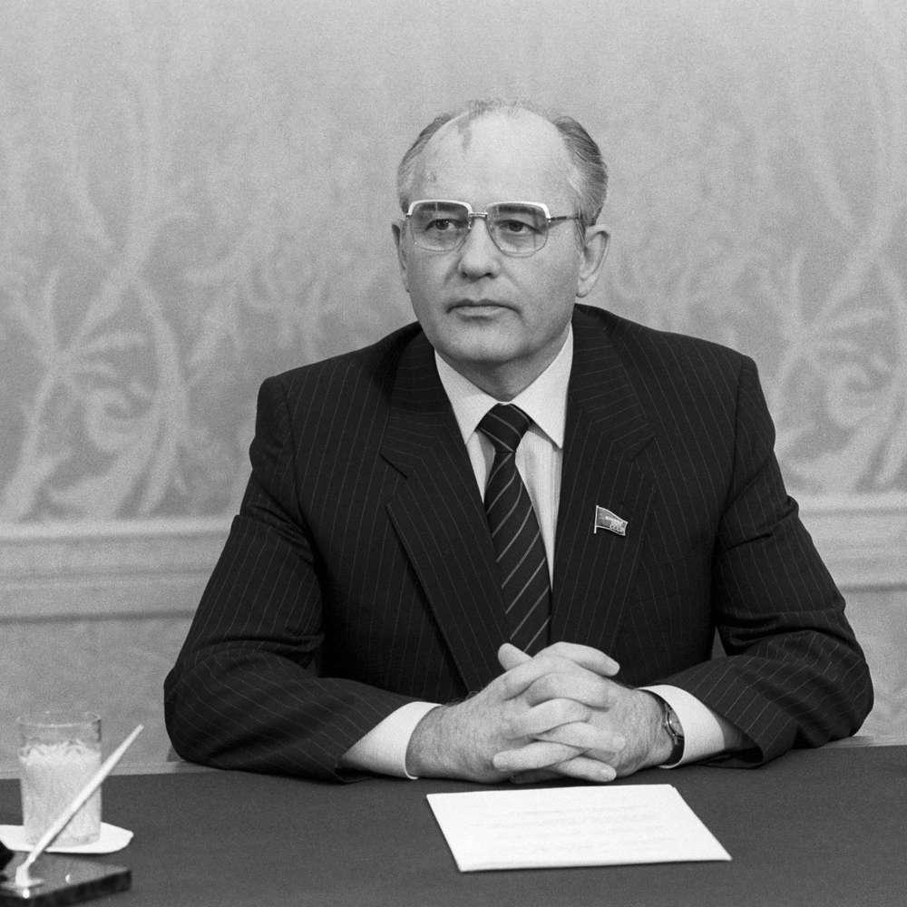 Stellungnahme von Gorbatschow nach dem Reaktorunglück in Tschernobyl   14.5.1986