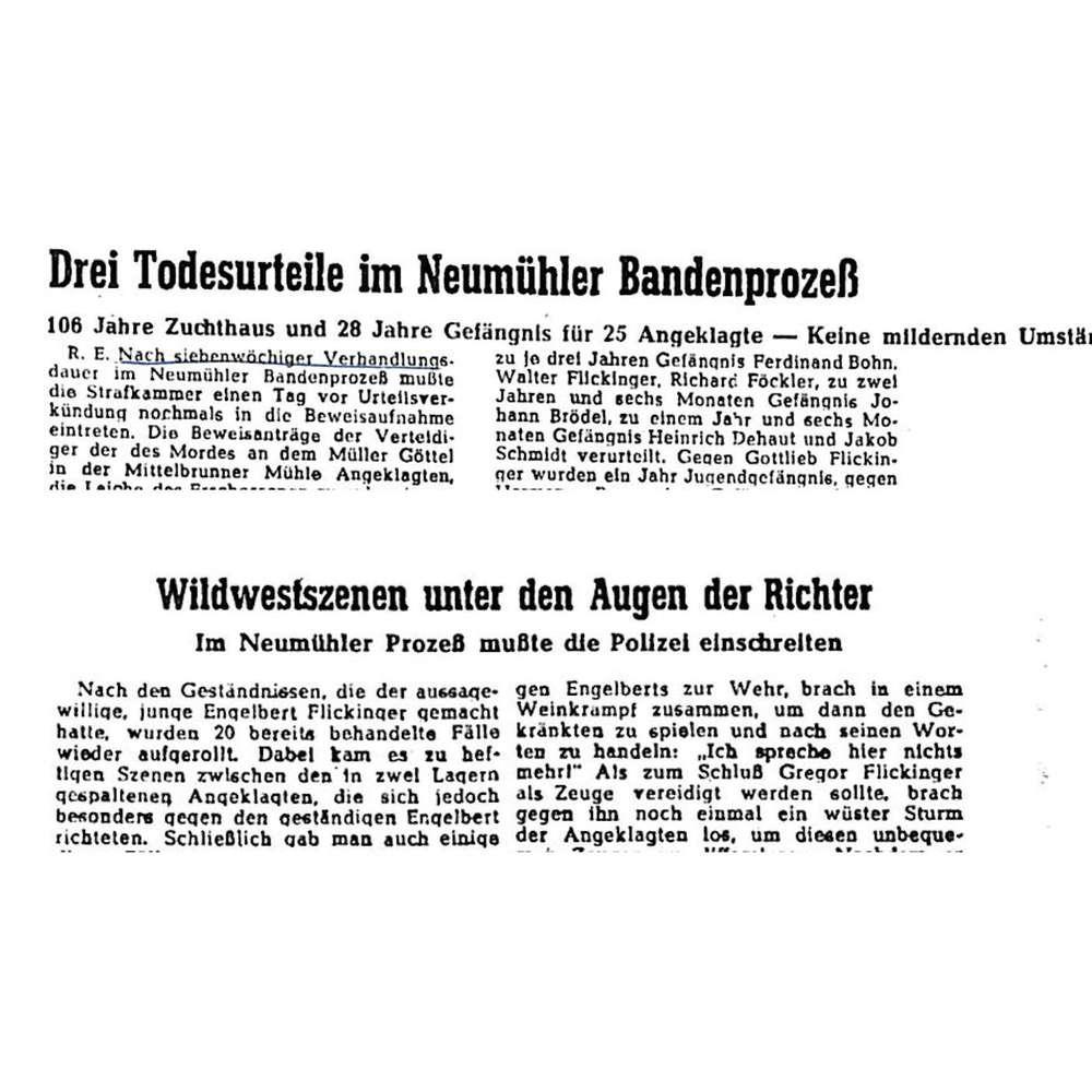 Interviews außerhalb des Gerichtssaals | Neumühler Banden-Prozess 1949 (3/4)