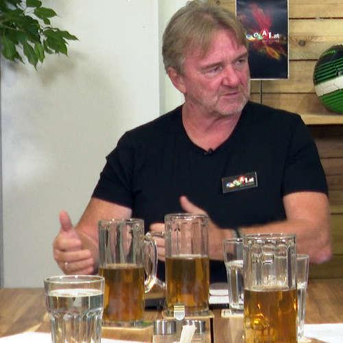 Am Stammtisch bei Andy Ogris: Peter Pacult