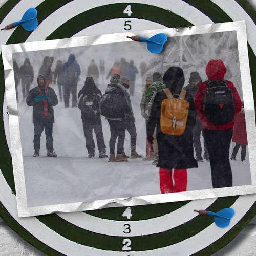 Von wildem Schneetreiben und ruhigen Klassenzimmern