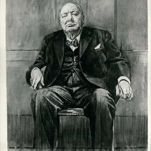 30.11.1954: Winston Churchill wird ein Portrait geschenkt